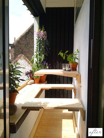 Apartamentos pequeños: aprovechar el balcón