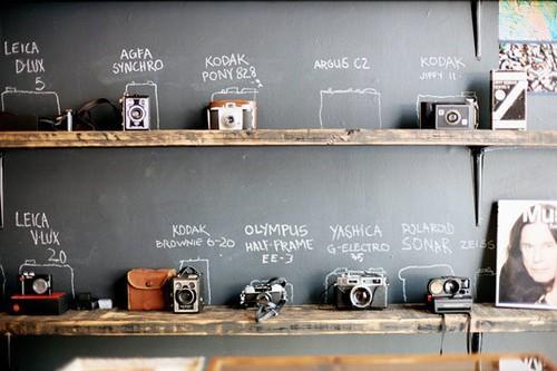 Decorar con cámaras de fotos