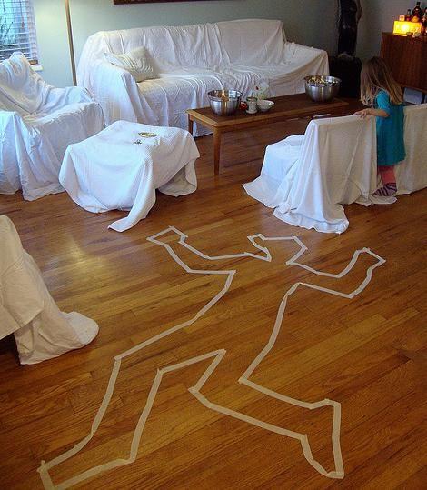 La escena de un crimen Halloween