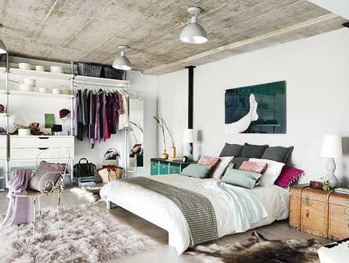 Decoraci n loft blanco y negro - Ideas para decorar un loft ...