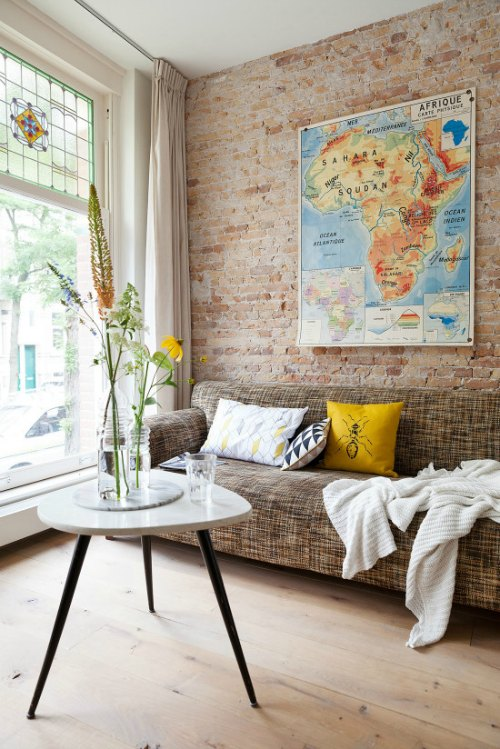 Ideas para decorar tu hogar con mapas - Ideas para decorar una pared ...