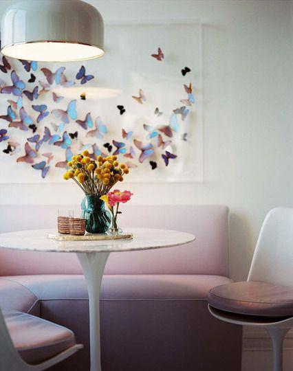 Mariposas pared ideas