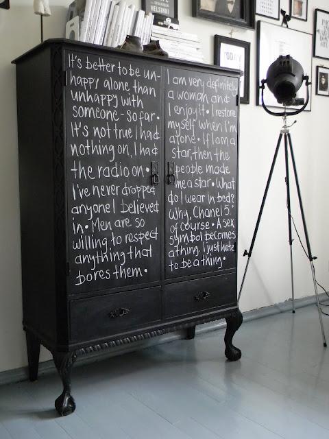 Renovar un mueble con pintura pizarra