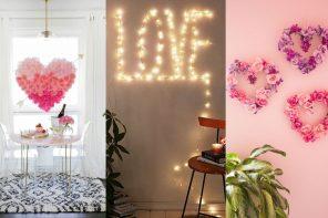 Decoración romántica para el día de los enamorados