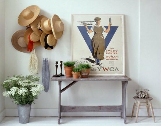 Como verás puedes decorar paredes con sombreros en todas las estancias de tu  vivienda. ab99f3a3e95