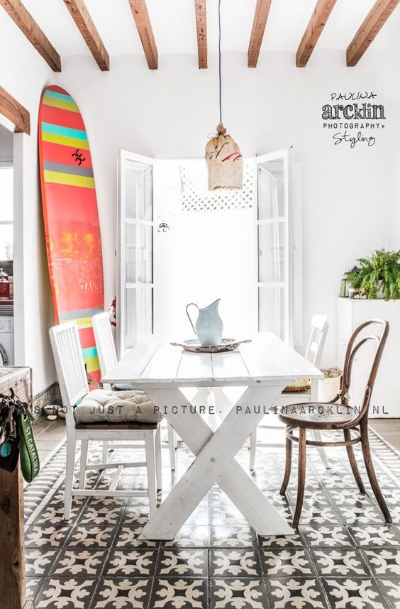 Apartamentos Playa: Decorar con tablas de surf
