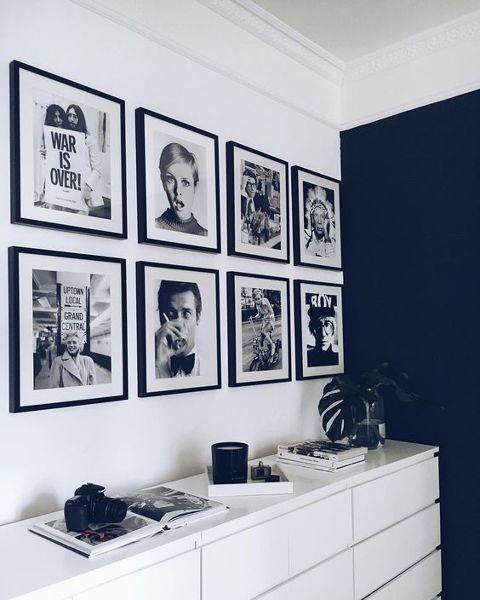 Cuadros, láminas, fotos encima de la cómoda