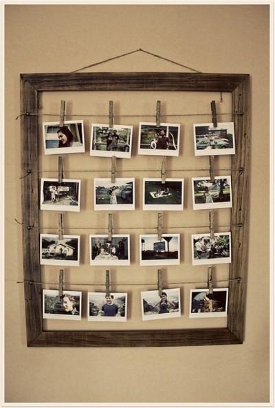 Paredes decoradas con fotografías, ideas de bricolaje