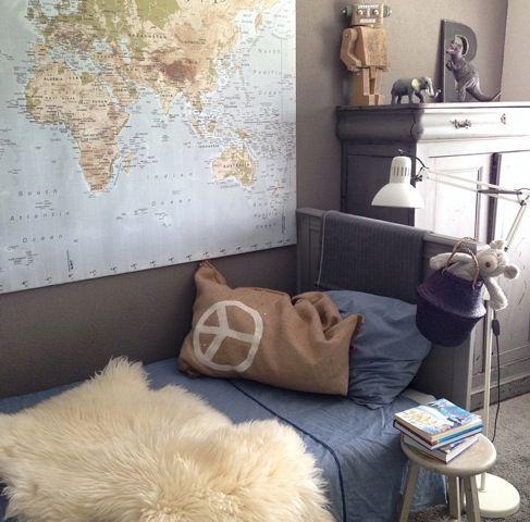 Ideas para decorar con mapas las habitaciones