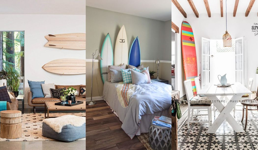 Decorar con tablas de surf genial idea para apartamentos de playa - Decorar apartamento playa pequeno ...
