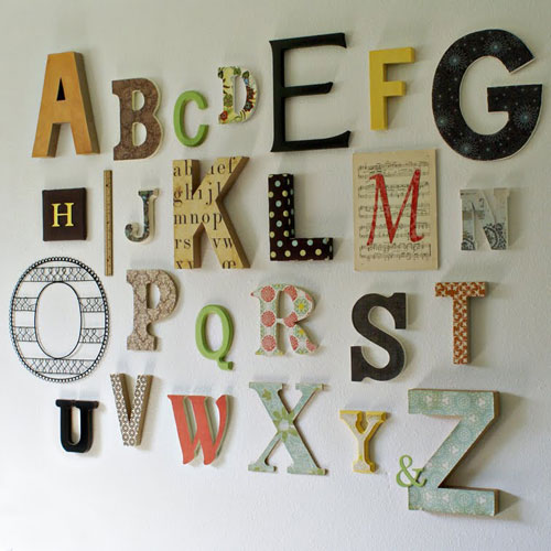 Ideas para decorar con letras - Lettres alphabet originales ...