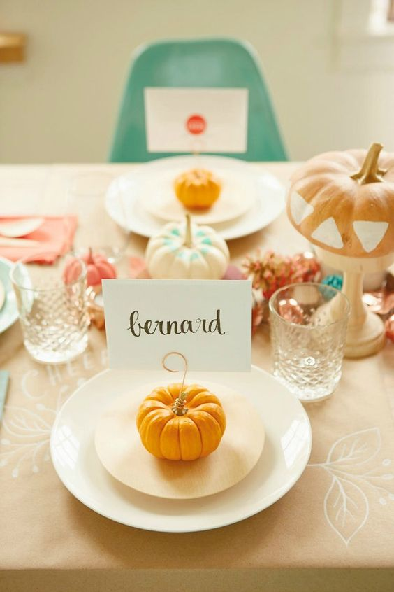 Place card o nombres de mesa Halloween