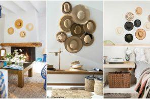 Decorar paredes con sombreros ¡Mira qué bonitos quedan!