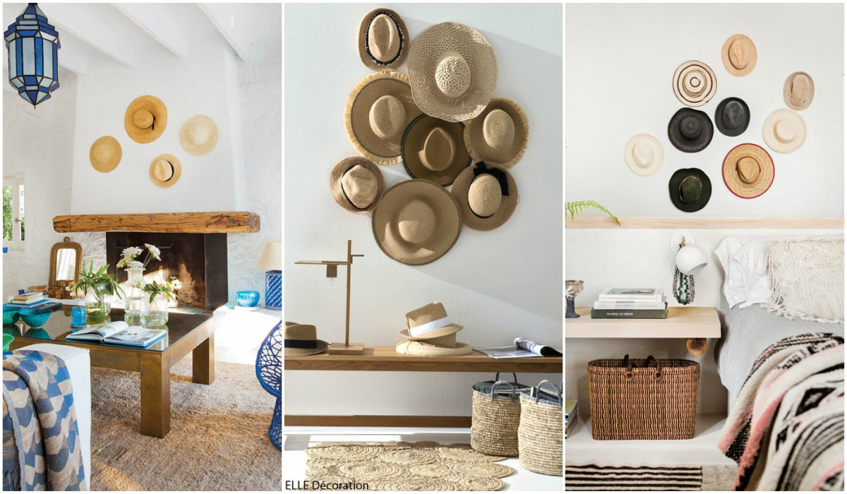 Decorar paredes con sombreros mira qu bonitos quedan - Ideas para decorar interiores ...