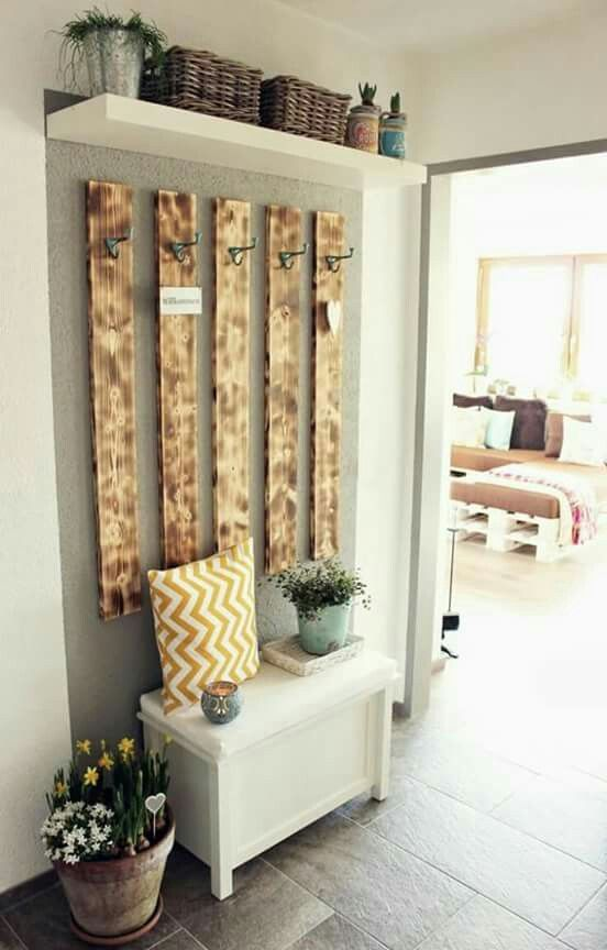 decorar recibidor con palets