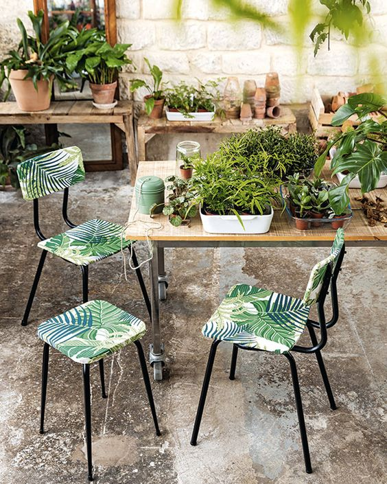 Decoupage sillas jardín
