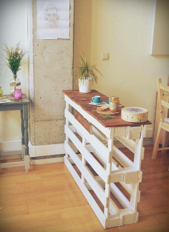 Ideas para dividir con palets la cocina
