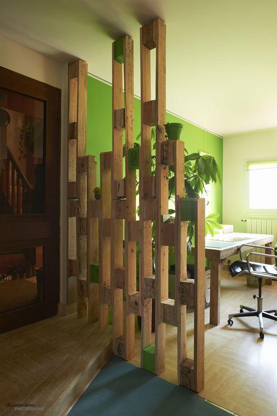 Crear una zona de trabajo con palets