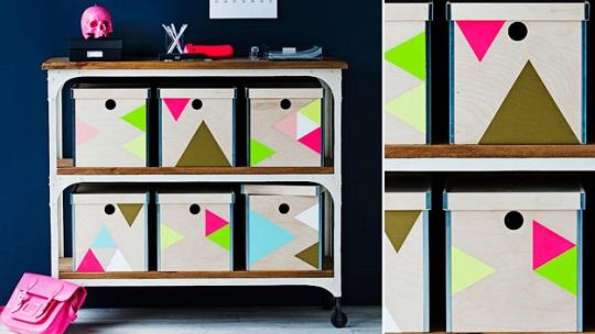 Ikea Hack: cajas geométricas