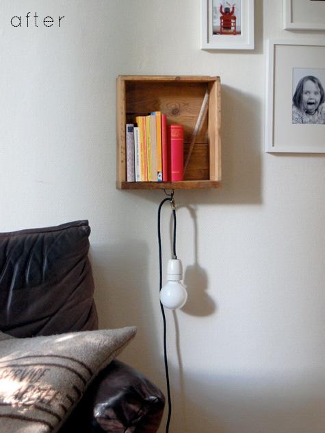 DIY: un cajón convertido en estantería