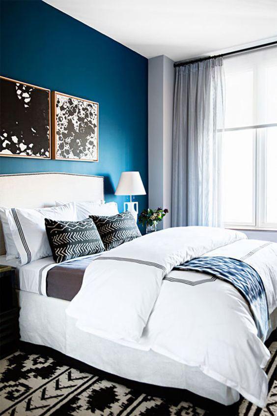 15 Dormitorios azules. Decoración hogar. Decoralia.es