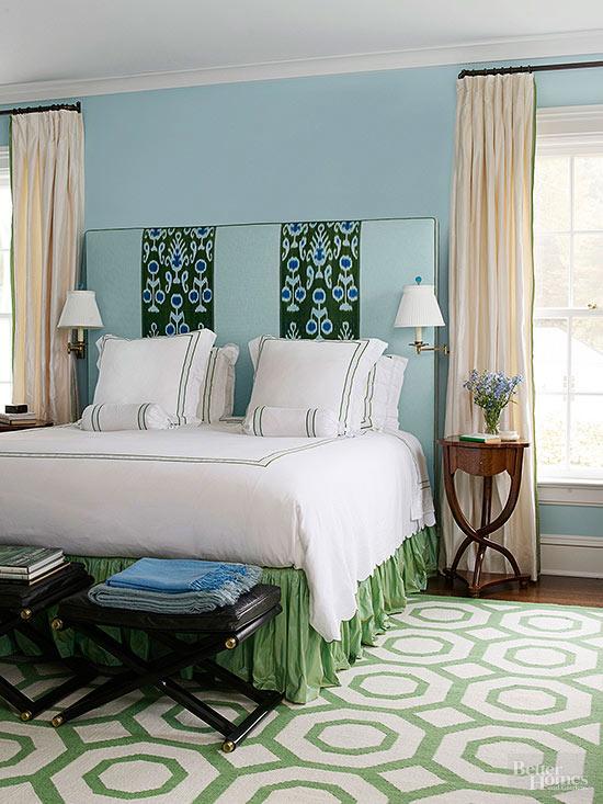 Dormitorios azules y amarillos