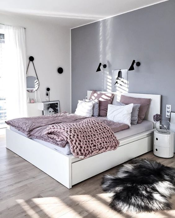Dormitorios en blanco y gris