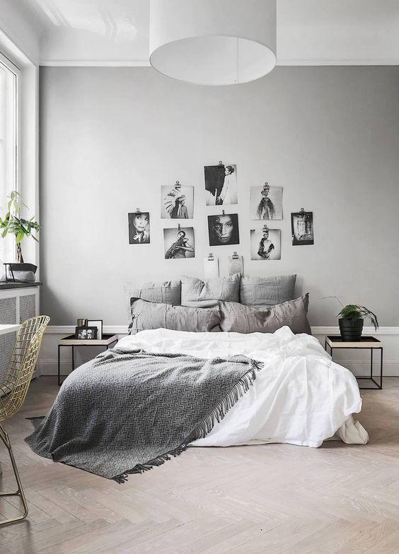 Habitaciones matrimonio blanco y gris