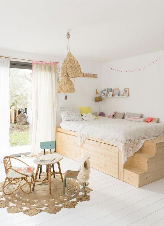 Dormitorios en blanco y madera