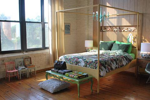 Decoraci n dormitorio vintage - Dormitorio retro ...