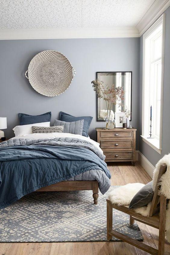 Dormitorios azules y gris
