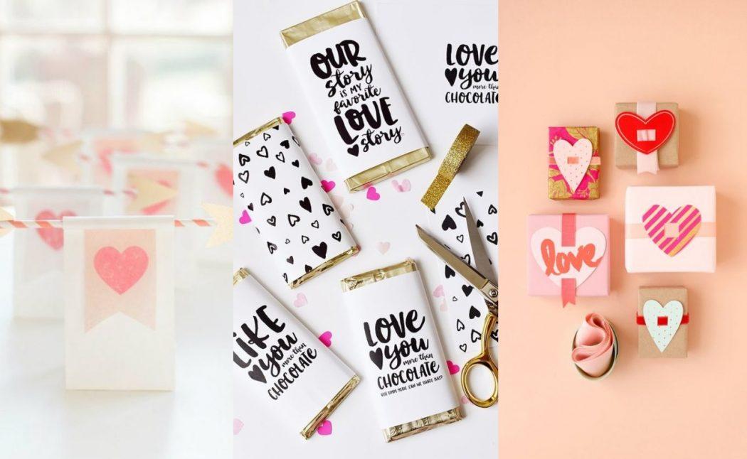 Envolver regalos para San Valentín