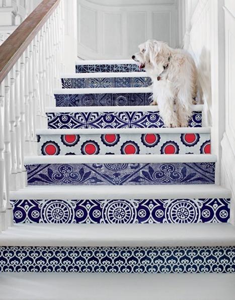 Viejas escaleras con nuevo aspecto