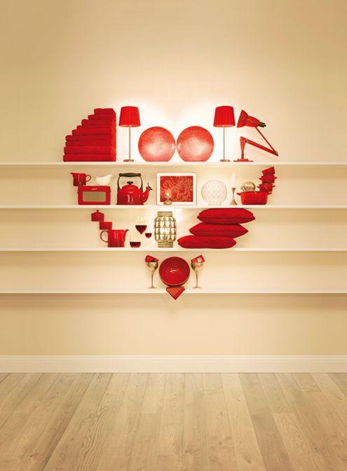 Escaparates con corazones San Valentín