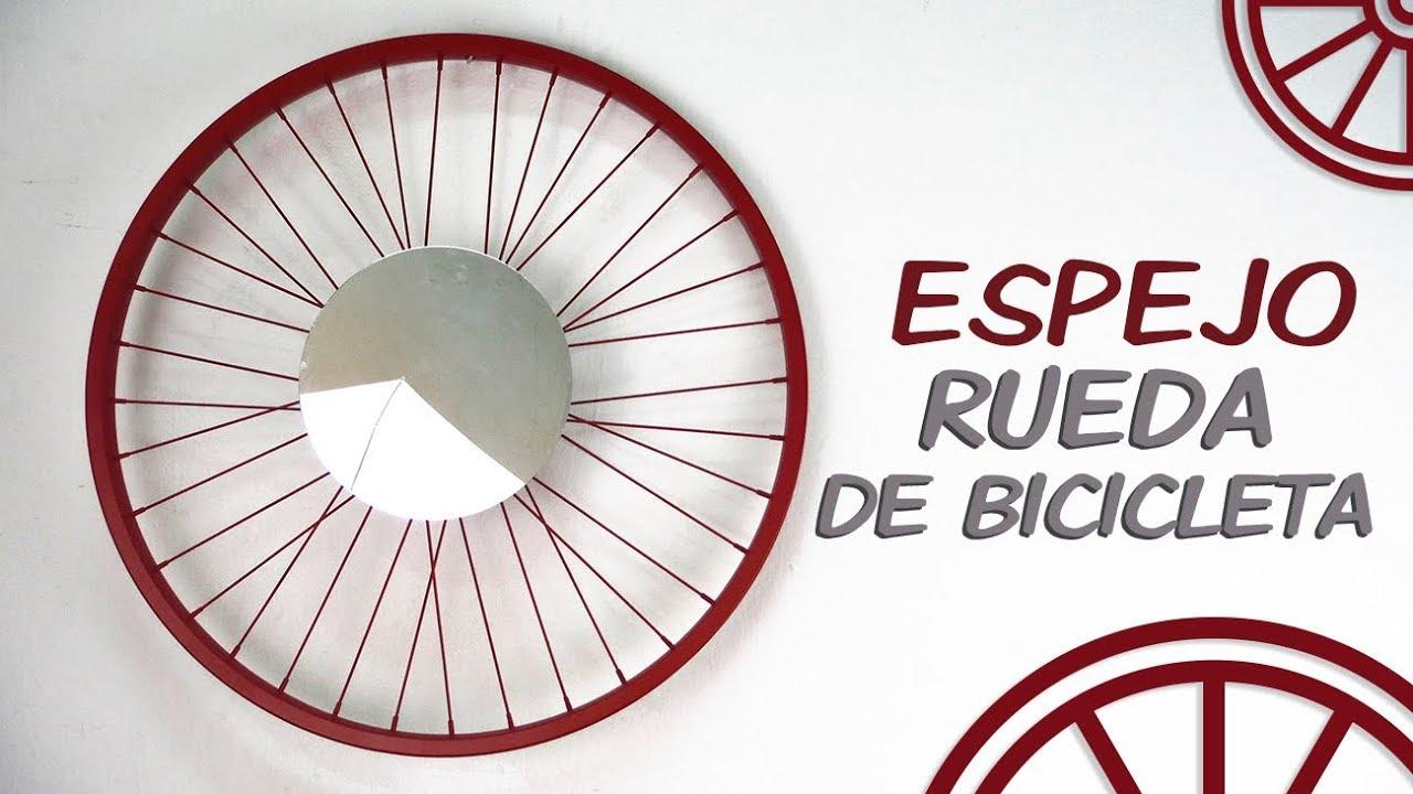 Espejo rueda bici