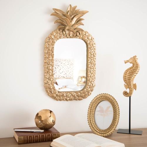 espejo pared piña