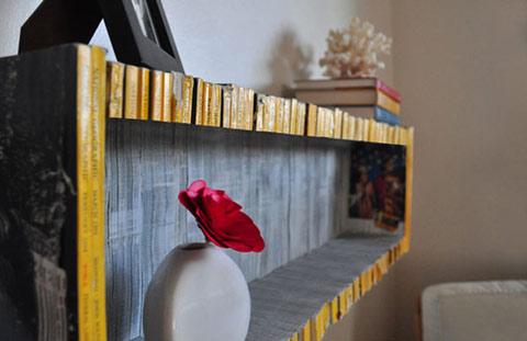 Reciclar revistas: DIY estantería