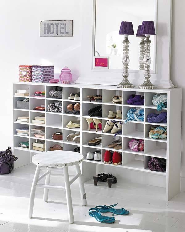 Ideas para organizar zapatos en estanterías