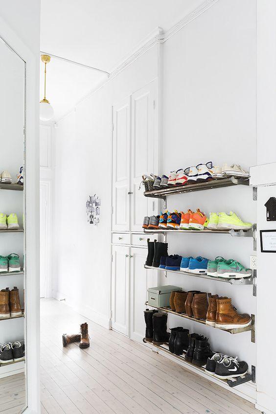 Ideas para organizar zapatos en baldas o estantes