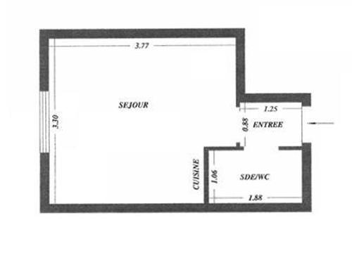 Un estudio de 15 metros cuadrados for Dormitorio 15 metros cuadrados