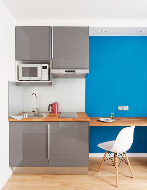 Un estudio de 15 metros cuadrados for Cocina 15 metros cuadrados