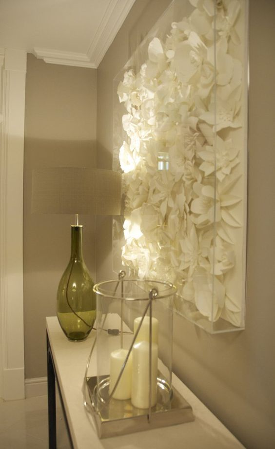 Decorar con flores de papel el recibidor