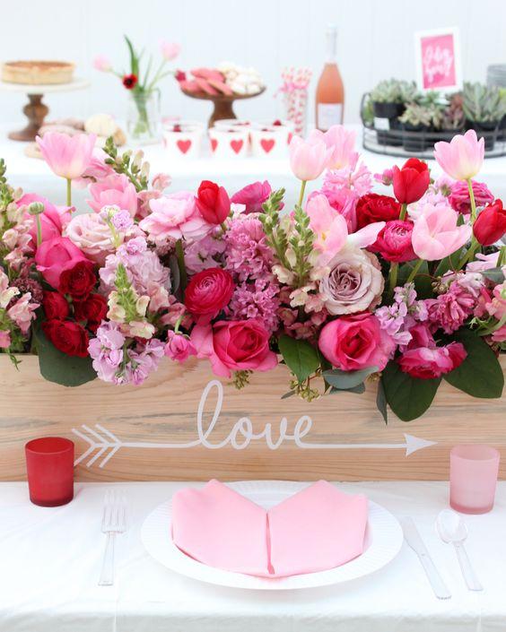 Centros de flores San Valentín