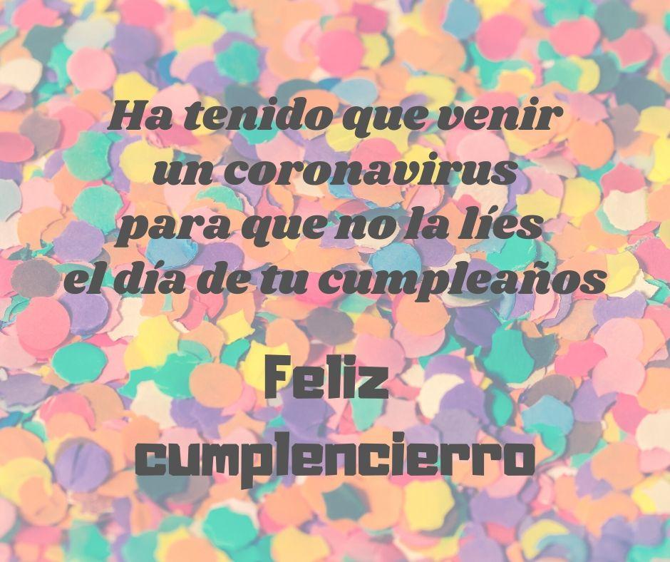 Felicitar cumpleaños en cuarentena