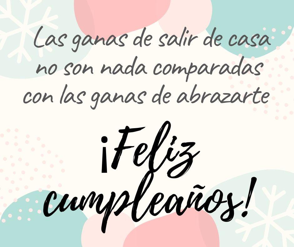 Felicitaciones de cumpleaños en cuarentena