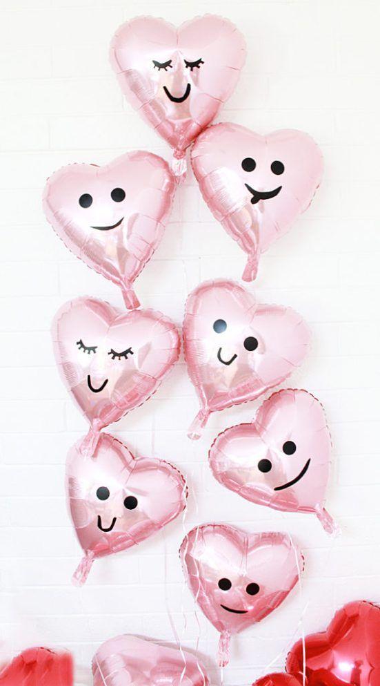Manualidades con globos San Valentín