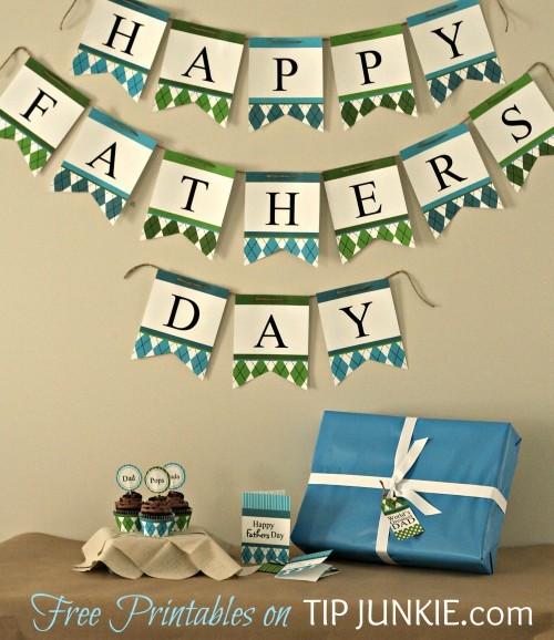 Bonita guirnalda para el Día del Padre, un imprimible que puedes descargar gratis.