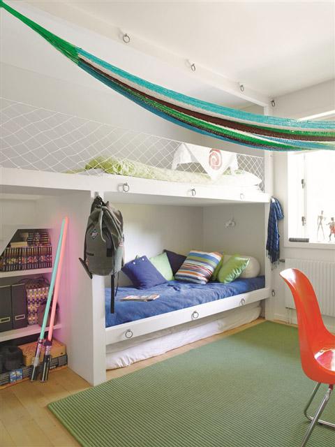 Proyecto habitaci n compartida juvenil - Habitaciones infantiles marineras ...