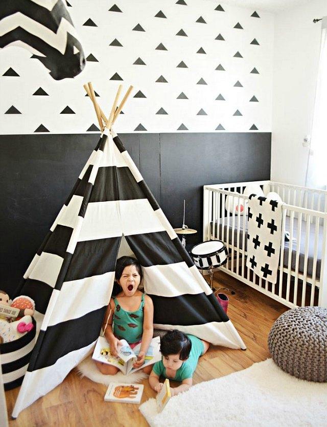 Habitaciones infantiles en blanco y negro 20 fotos - Habitaciones en blanco ...