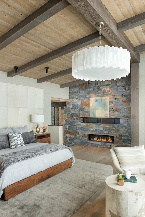 Habitaciones rústicas con chimenea